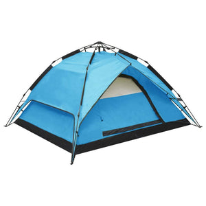 Pop-Up Camping Tent 2-3 Person 240x210x140 cm Blue