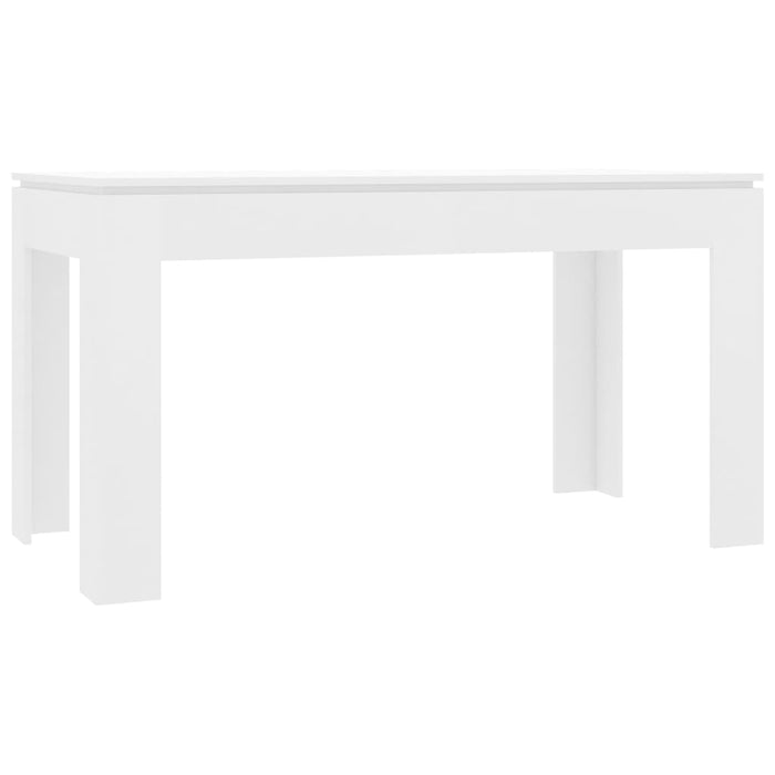Dining Table White 140x70x76 cm Chipboard