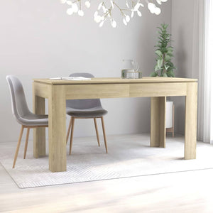 Dining Table Sonoma Oak 140x70x76 cm Chipboard