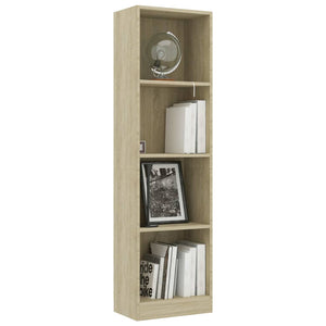 4-Tier Book Cabinet Sonoma Oak 40x24x142 cm Chipboard