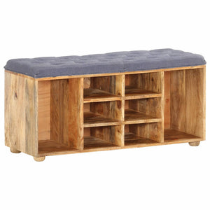Hall Bench 100x35x47 cm Solid Mango Wood