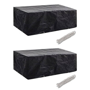 Garden Furniture Covers 2 pcs 8 Eyelets 200x160x70 cm
