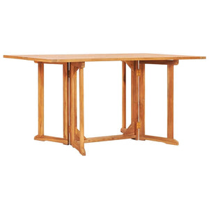 Folding Butterfly Garden Table 150x90x75 cm Solid Teak Wood sku 49000