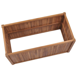 Raised Bed 100x50x70 cm Solid Teak Wood