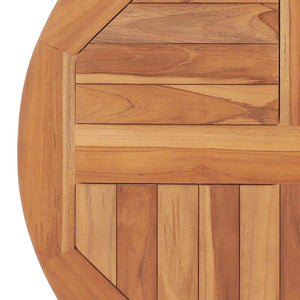Table Top Solid Teak Wood Round 2.5 cm 60 cm