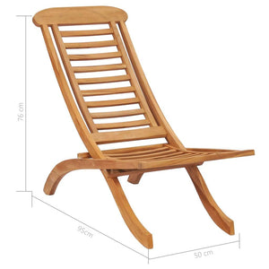 Folding Garden Chairs Solid Teak Wood