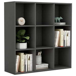 Book Cabinet Grey 98x30x98 cm Chipboard sku 801127