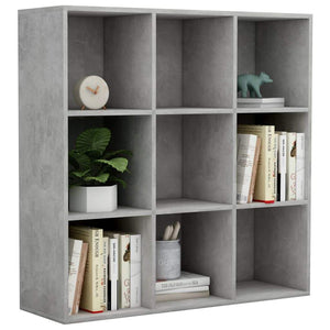 Book Cabinet Concrete Grey 98x30x98 cm Chipboard sku 801129
