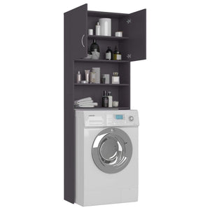 Washing Machine Cabinet Grey 64x25.5x190 cm Chipboard sku 801672
