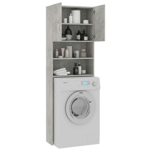 Washing Machine Cabinet Concrete Grey 64x25.5x190 cm Chipboard sku 801674