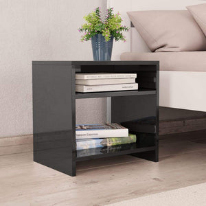 Bedside Cabinets 2 pcs High Gloss Black 40x30x40 cm Chipboard sku 801901