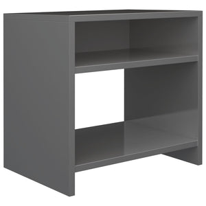 Bedside Cabinet High Gloss Grey 40x30x40 cm Chipboard sku 801902