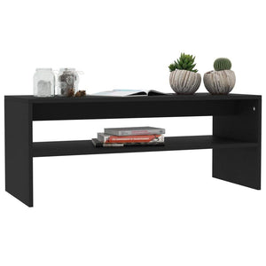 Coffee Table Black 100x40x40 cm Chipboard