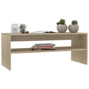 Coffee Table Sonoma Oak 100x40x40 cm Chipboard sku 801952