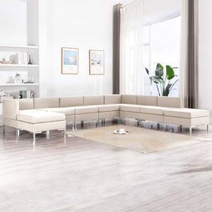9 Piece Sofa Set Fabric Cream sku 3052891