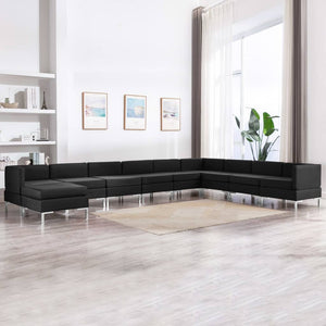 10 Piece Sofa Set Fabric Black sku 3052915