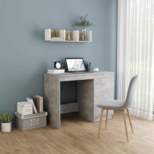 Desk Concrete Grey 100x50x76 cm Chipboard sku 801800