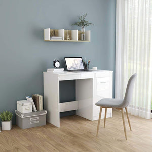 Desk High Gloss White 100x50x76 cm Chipboard sku 801802