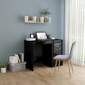 Desk High Gloss Black 100x50x76 cm Chipboard sku 801803