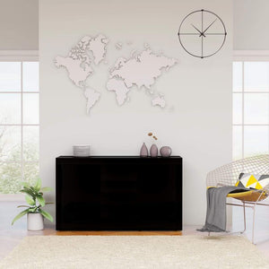 Sideboard High Gloss Black 120x36x69 cm Chipboard