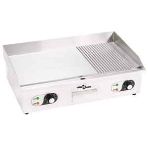 Electric Griddle Stainless Steel 4400 W 73x51x23 cm