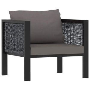 Single Sofa with Cushion Anthracite Poly Rattan