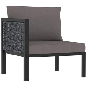 Right Corner Sofa with Cushion Anthracite Poly Rattan