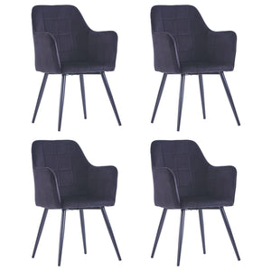 Dining Chairs 4 pcs Black Velvet - sku 3054644