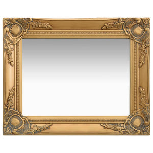 Wall Mirror Baroque Style 50x40 cm Gold