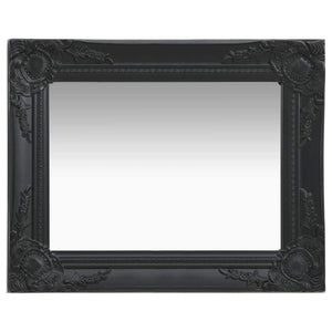 Wall Mirror Baroque Style 50x40 cm Black