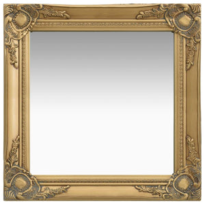 Wall Mirror Baroque Style 50x50 cm Gold