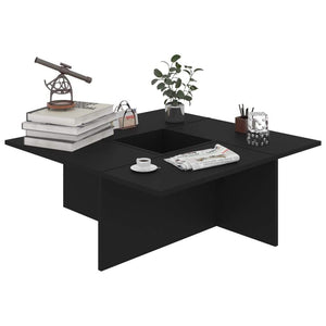 Coffee Table Black 79.5x79.5x30 cm Chipboard
