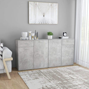 Sideboard Concerte Grey 160x36x75 cm Chipboard