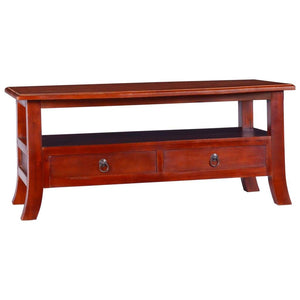 Coffee Table Classical Brown 90x50x40 cm Solid Mahogany Wood