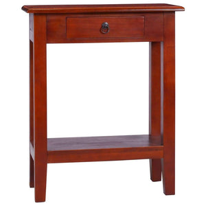 Console Table Classical Brown 60x30x75 cm Solid Mahogany Wood