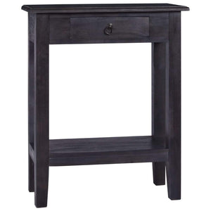 Console Table Light Black Coffee 60x30x75 cm Solid Mahogany Wood