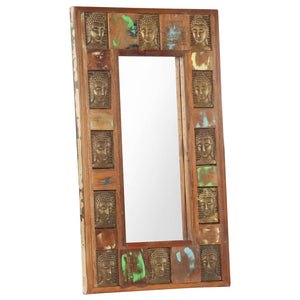 Mirror with Buddha Cladding 50x80 cm Solid Reclaimed Wood - sku 321815