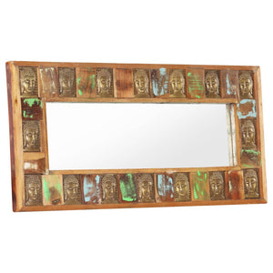 Mirror with Buddha Cladding 110x50 cm Solid Reclaimed Wood - sku 321816