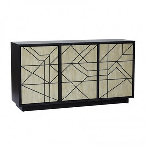 Abstract Sideboard in Bone Inlay, Black