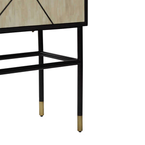 Abstract Cabinet in Bone Inlay, Black