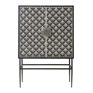 Tasma Cabinet in Bone Inlay, Black