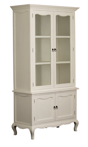 4 Door French Buffet and Hutch (White)