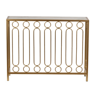 Betty Marble Top Golden Console Table