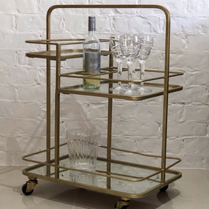Artemis Iron and Mirror Bar Cart