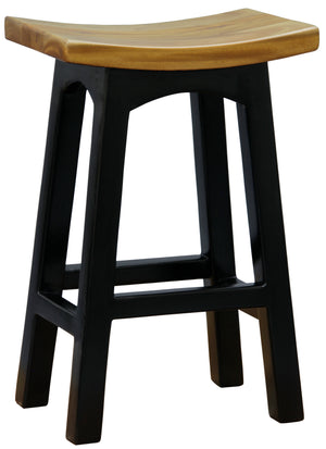 Wooden Kitchen Stool (Black Caramel)