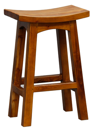 Wooden Kitchen Stool (Light Pecan)