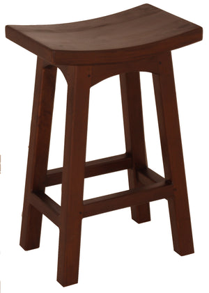 Wooden Kitchen Stool (Mahogany)