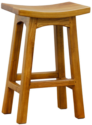 Wooden Kitchen Stool (Caramel)