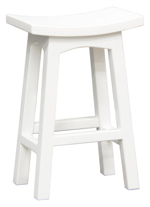 Wooden Kitchen Stool (White)
