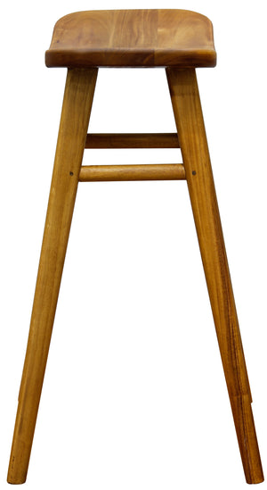 Oval Solid Timber Barstool (Caramel)
